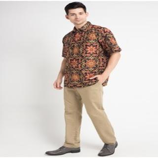 Model Baju Batik Pria Kombinasi Satin