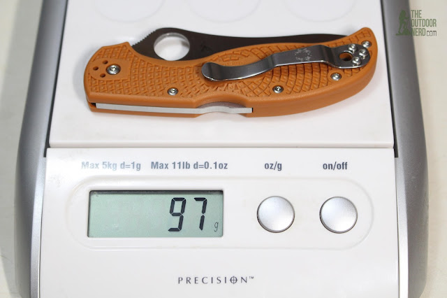Spyderco HAP40 Stretch On Scale - Grams