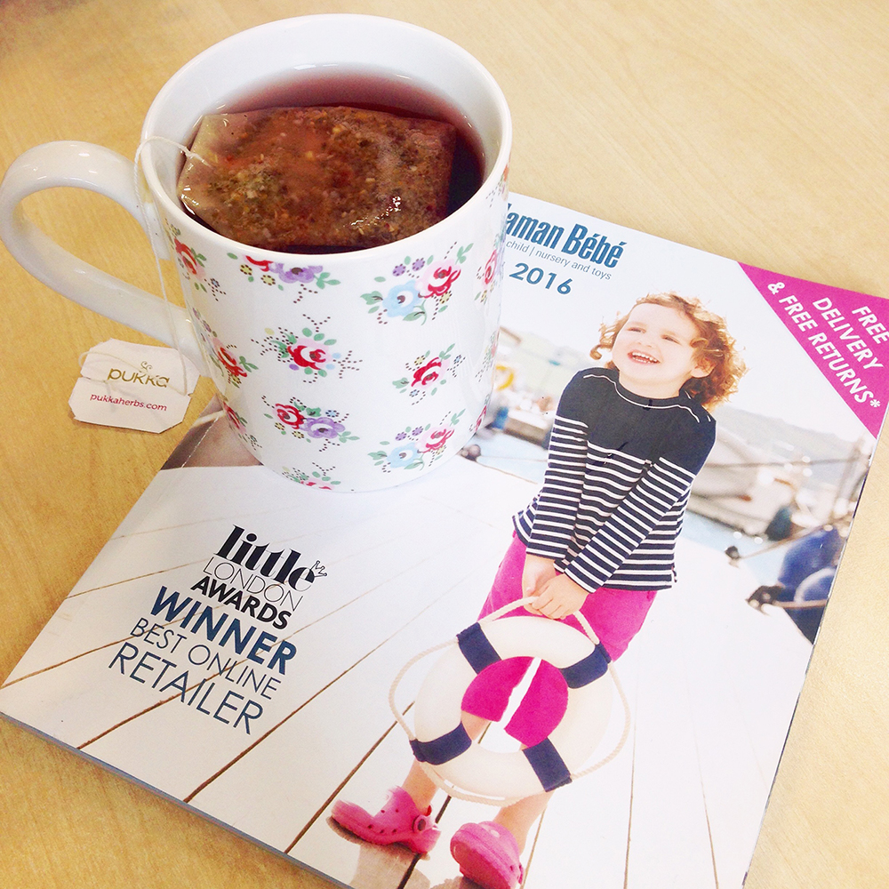 pukka tea, jojo maman bebe spring 2016 catalogue, tea