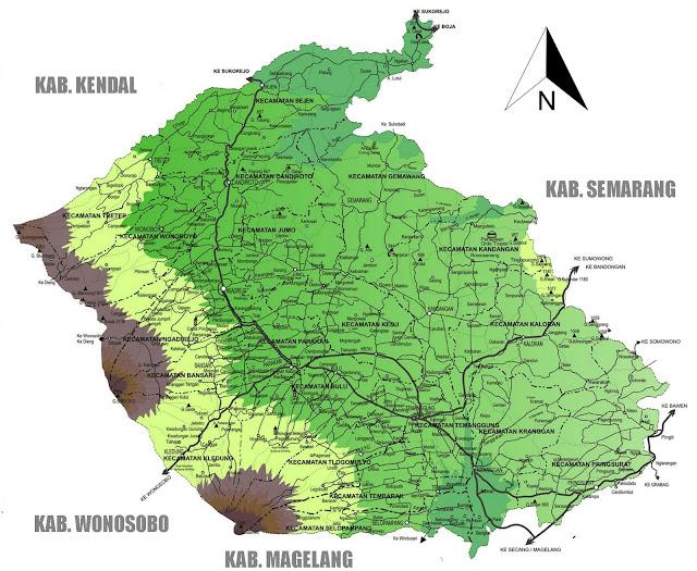 Gambar Peta kabupaten Temanggung