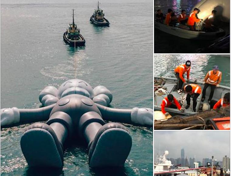 Cuaca Buruk,Pertunjukan Bonek Besar Yang Mengapung di Hong Kong Victoria Harbour Akan Pergi 2 Hari Lebih Awal