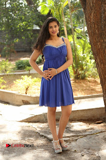 Actress Prasanna Stills in Blue Short Dress at Inkenti Nuvve Cheppu Movie Platinum Disc Function  0189.JPG