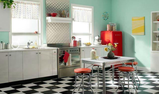 cocina de inspiración retro