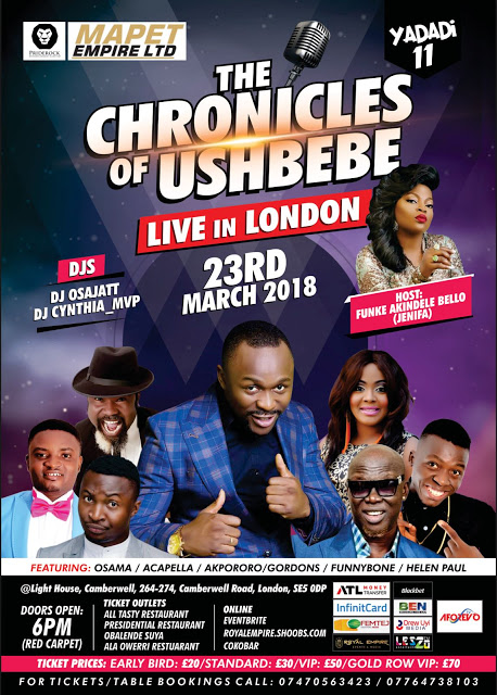 Fri/23/Mar: The Chronicles of Ushbebe Live in London