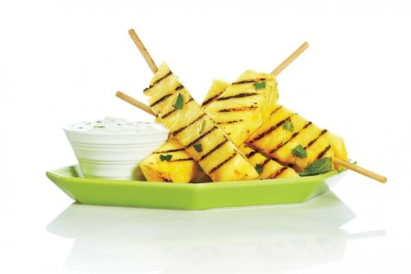 Grilled Pineapple And Banana Sauce With Honey And Lime Recipes ...
