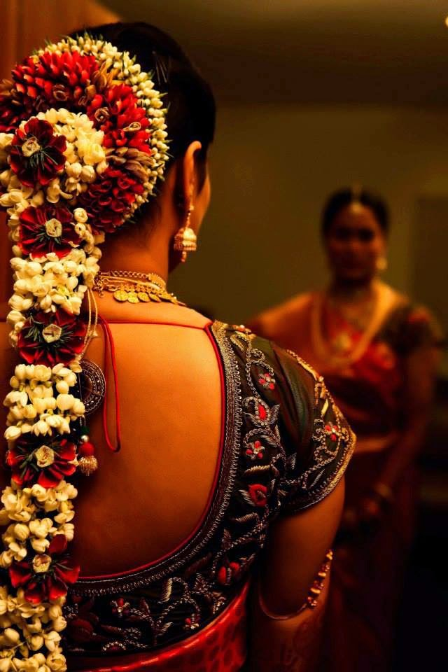 Pelli Poola Jada South Indian Bridal Hair Style