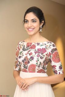 Ritu Varma smiling face Cream Anarkali dress at launch of OPPO New Selfie Camera F3 ~  Exclusive 092.JPG
