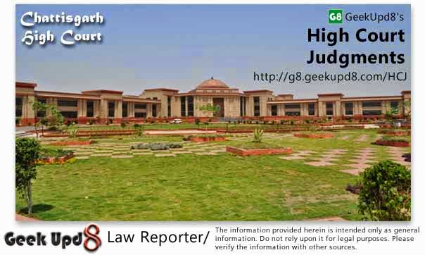Chattisgarh High Court, Bilaspur Judgments