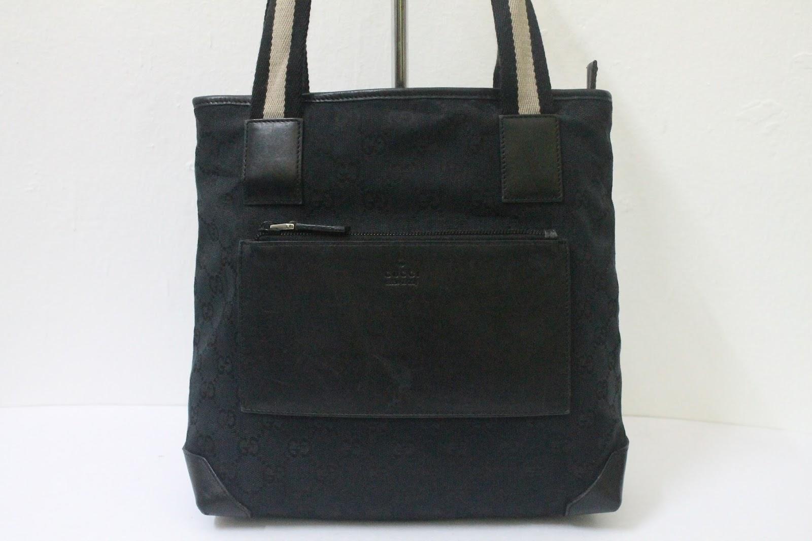 bundlebarangbaek authentic gucci monogram tote bag sold out. Black Bedroom Furniture Sets. Home Design Ideas