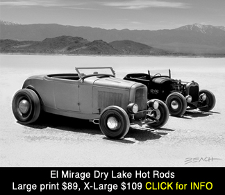 El Mirage Ford hot rod racers, 1950s large photo print for sale