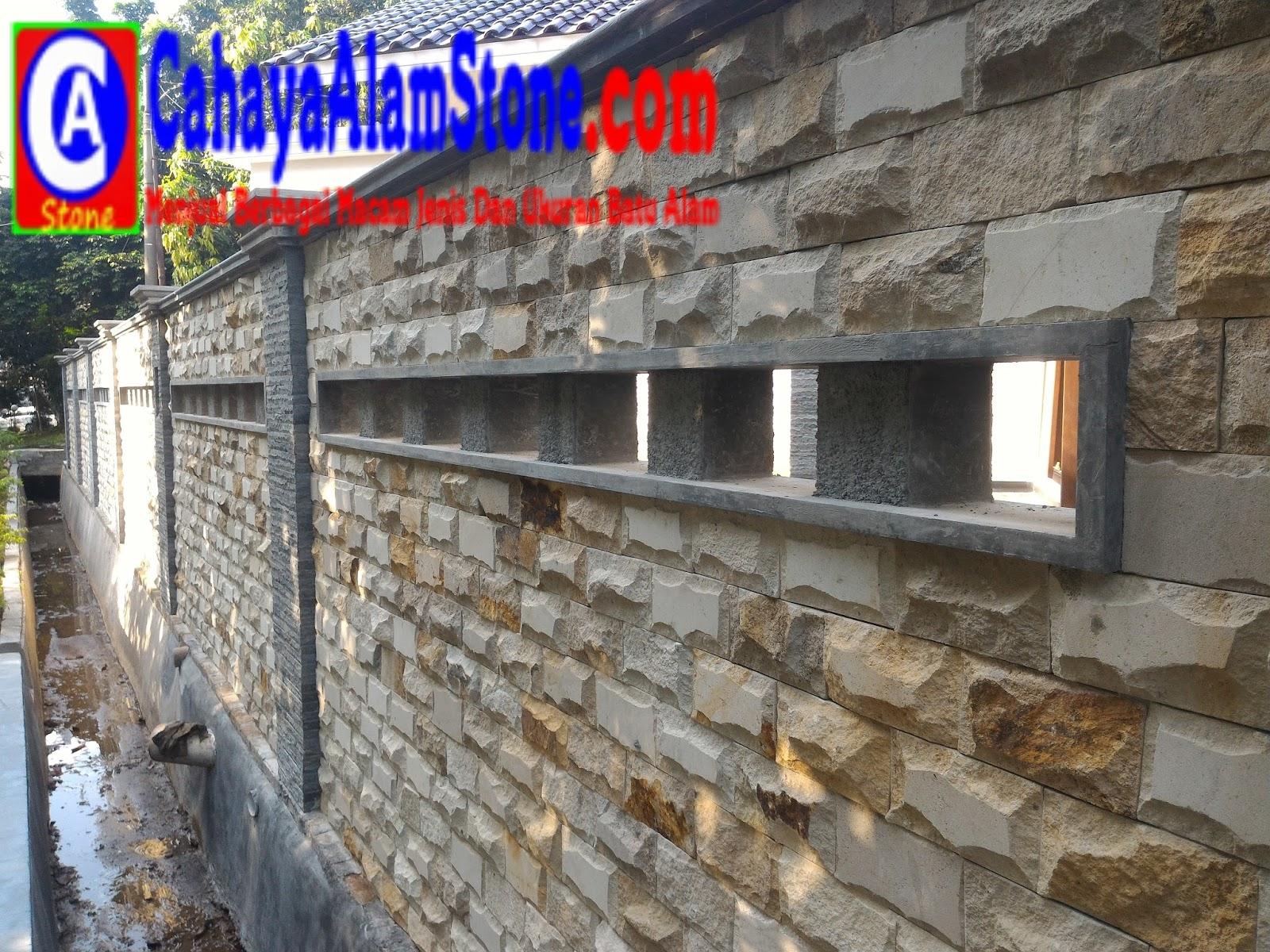Jenis Batu Alam Untuk Dinding Pagar Depan Rumah Cahaya Templek Penggunaan Finishing Bangunan Banyak Diminati Karena Sangat Alami Dilihat Hasil Nya Selain Itu Corak