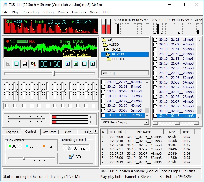 Telephone special recorder 5.0 Pro