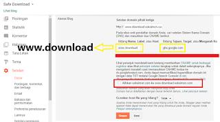 Menambah subdomain di blogspot dari blog utama