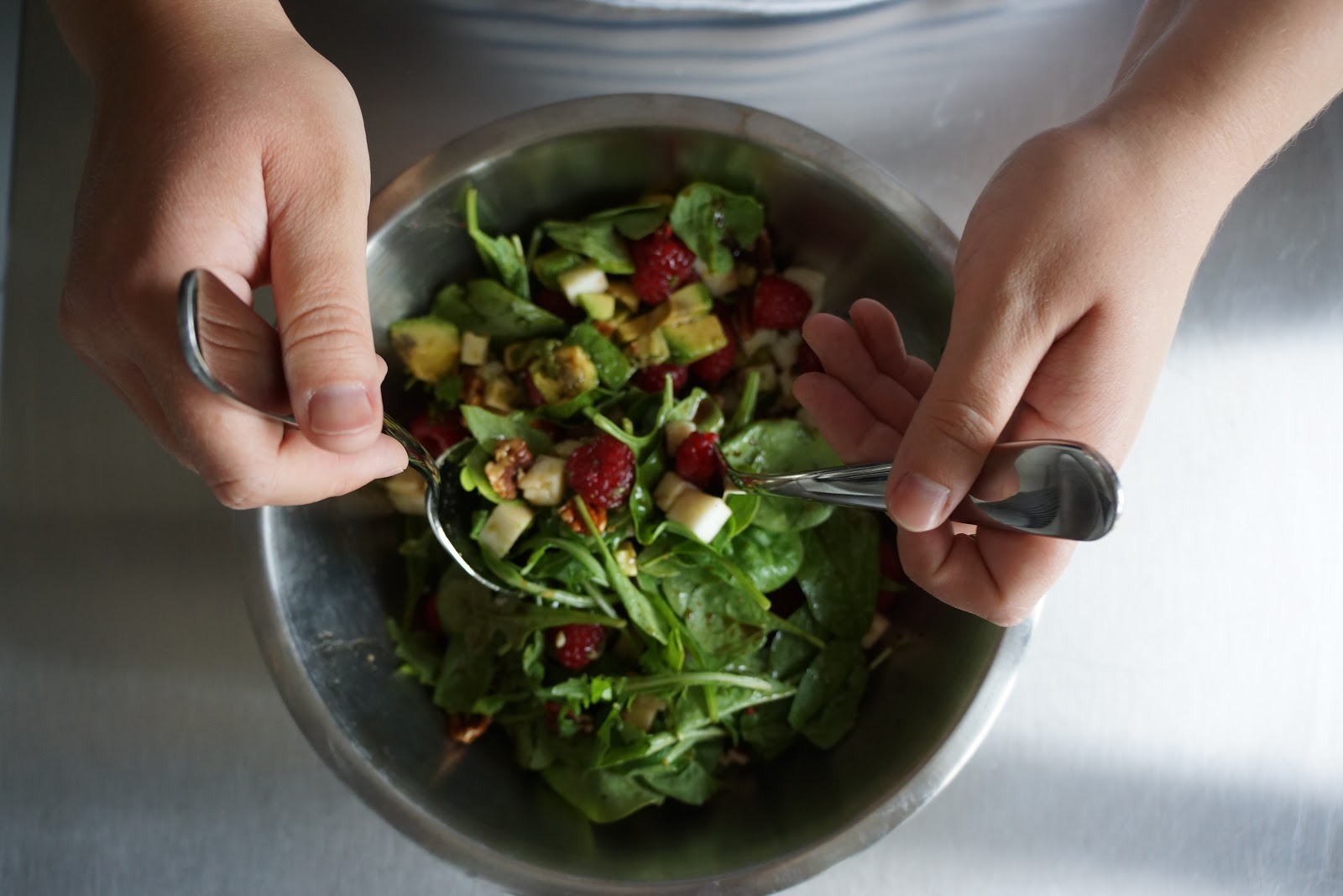 tossing a salad