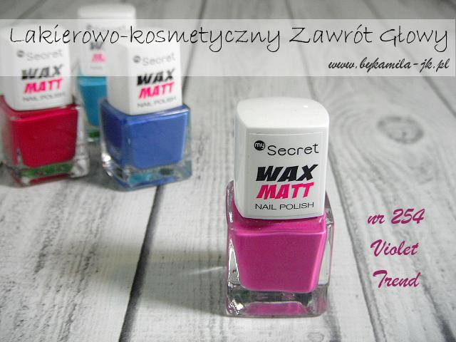 Lakiery My Secret Wax Matt - Violet Trend