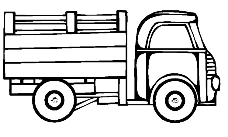 Desenhos De Caminhão E Carreta Para Colorir!