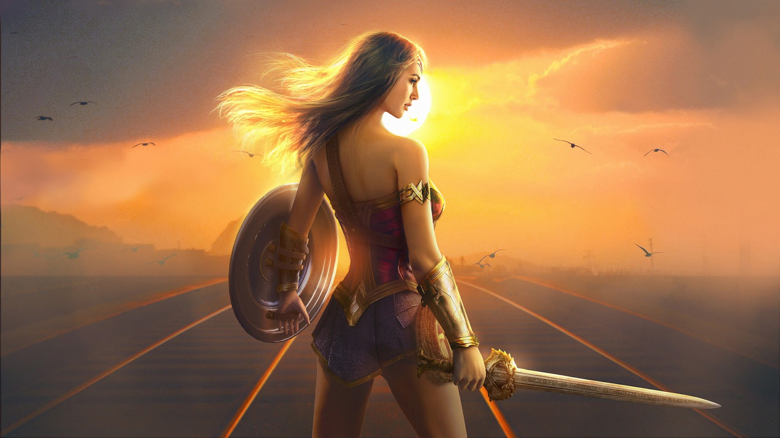 Wonder Woman Fan Art HD Wallpaper
