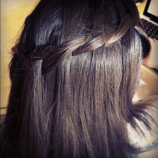 The two-stand Waterfall braid