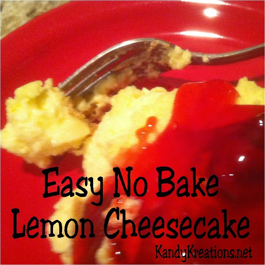 Make an easy no bake dessert this Thanksgiving with a yummy lemon cheesecake that takes only moments to put together and enjoy.