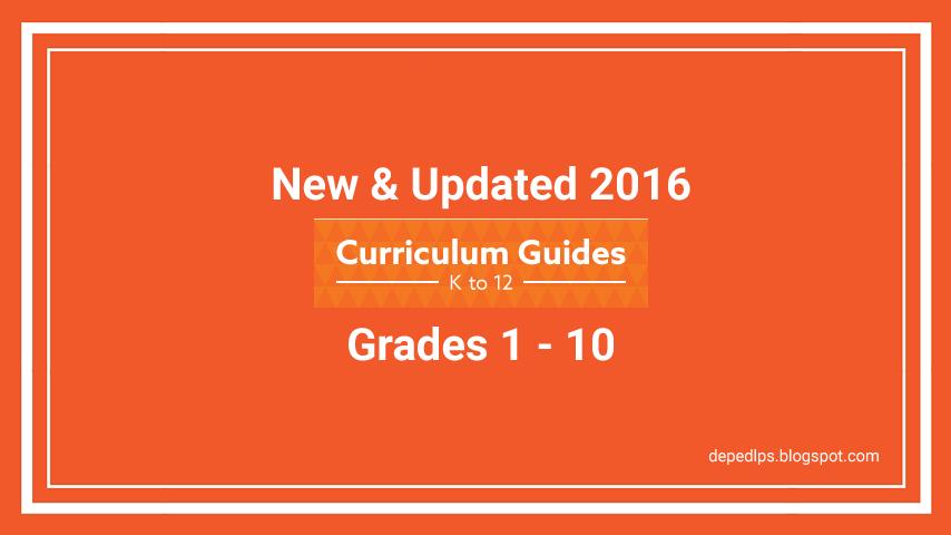 new updated k 12 curriculum guides grade 1 10 deped lp s rh depedlps blogspot com mapeh k 12 curriculum guide competencies k to 12 mapeh curriculum guide 2016