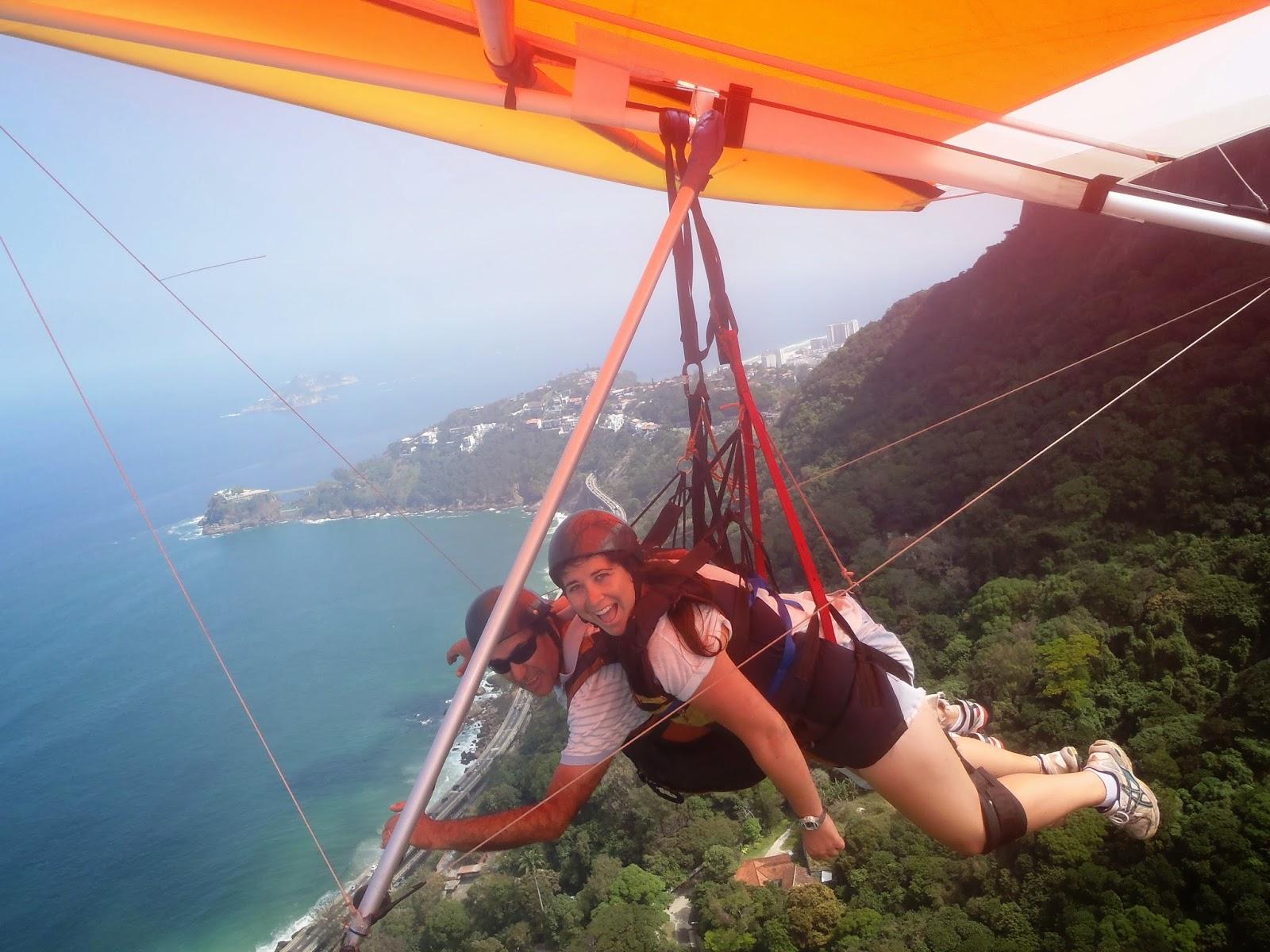 Hang Gliding over Rio de Janeiro beaches and forest