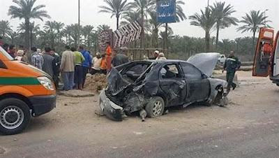 حادث طريق الاسكندرية الزراعي وارتفاع عدد المصابين الي 13 عاملا