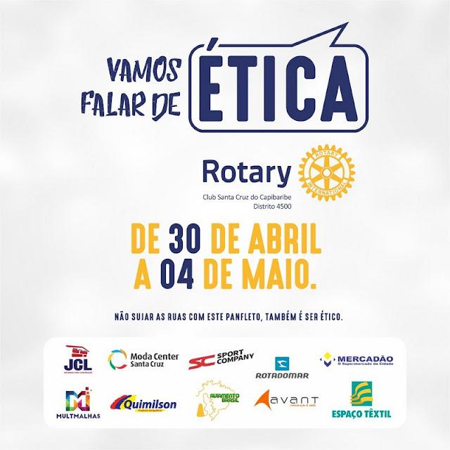 """Rotary Club divulga programação do projeto """"Vamos falar de Ética"""""""