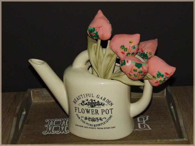 tulipanowy bukiet z materiału