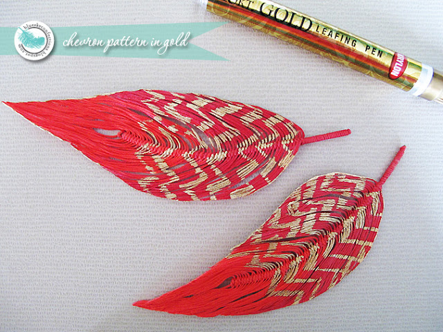 chevron feathers