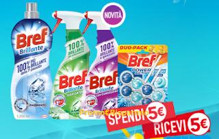 Logo Bref 100% brillante : Soddisfatti & Rimborsati con buoni spesa