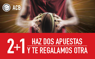 sportium ACB: Haz 2 apuestas y te dan 1 gratis 10-15 abril