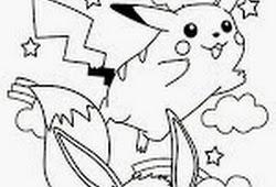 Catatanku Anak Desa Gambar Mewarnai Pikachu