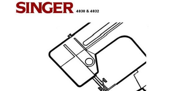 Sewing Machine Instruction Manuals: Singer 4830-4832