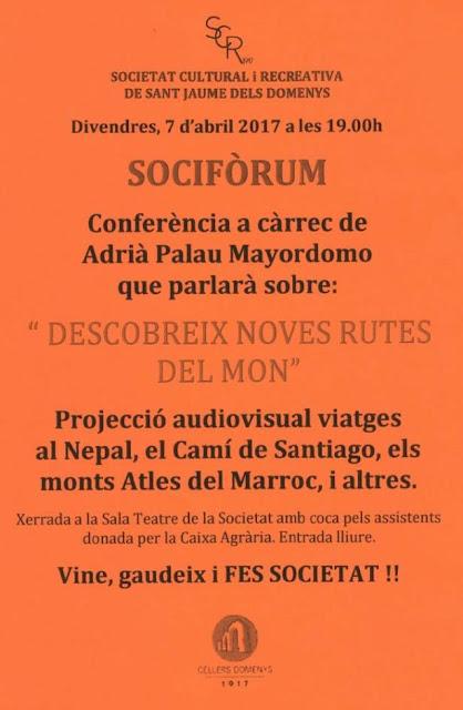 Esguard de Dona - Conferència a la Societat Cultural i Recreativa de Sant Jaume dels Domenys.