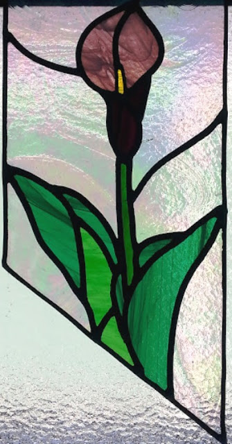 stained glass calla lily - phase 1