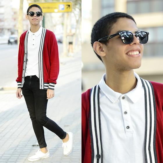 Look Masculino com Cardigan e Camisa Polo