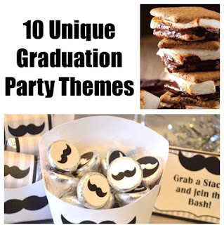 Throw a unique Graduation party that will stand out from the sea of parties your graduate and their guests will attend this year.  With these 10 unique graduation party themes, you'll throw a fun party that will have memories for years to come.