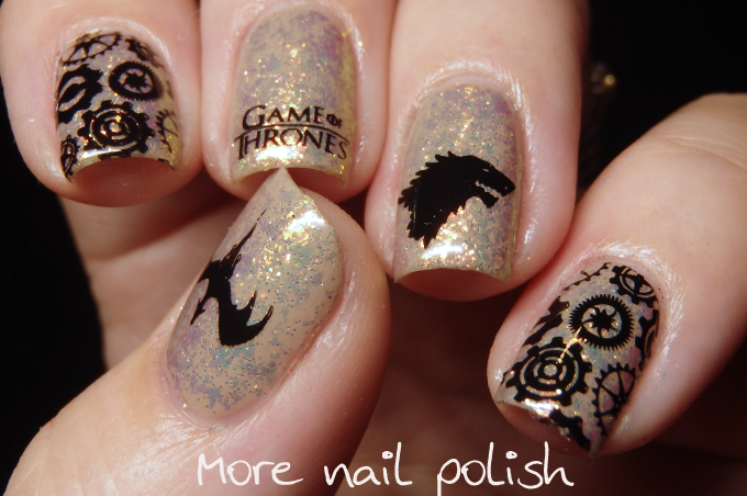 Game of Thrones Nail art featuring Colors by Llarowe Mine is Nine ...
