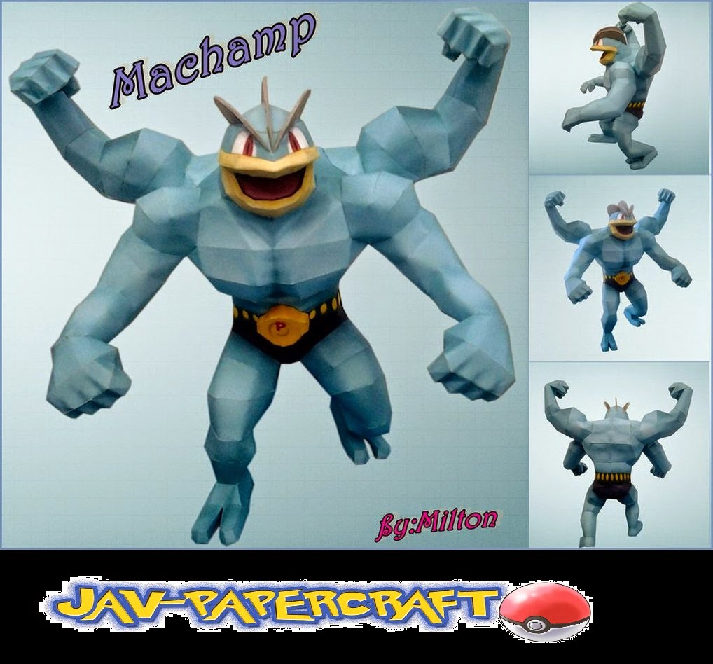 Pokemon Machamp Papercraft