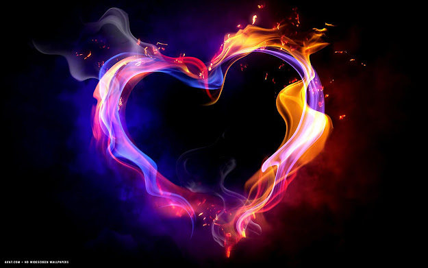 Heart With Flames Heart Art Colorful Shape Flames Black Hd Widescreen  Wallpaper Clipart