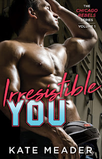 romance novel covers, contemporary romance, sports romance, Irresistible You by Kate Meader