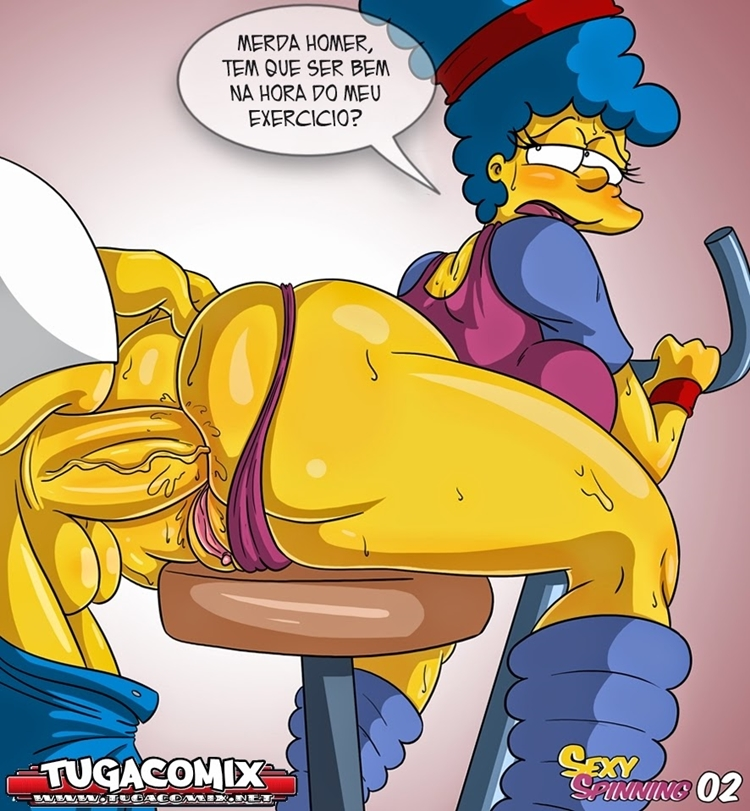 Os simpsons hentai - Marge sexy spinning