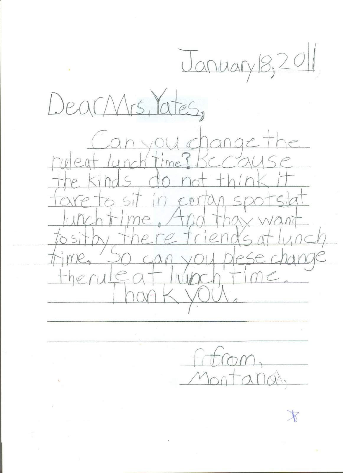 Friendly Letter Example 2nd Grade