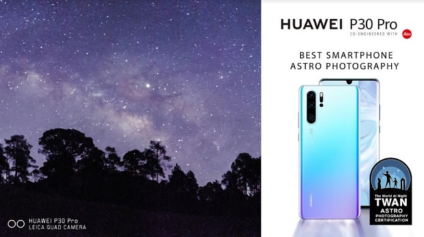 Huawei P30 Pro Receives TWAN Certification for its Astrophotography Capabilities