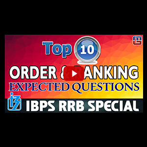 Top 10 Order & Ranking Expected Questions | Reasoning | IBPS RRB Special 2017