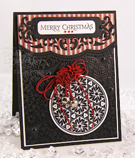 Stamps - Our Daily Bread Designs Christmas Pattern Ornaments, Holly Pattern Mini, ODBD Custom Circle Ornaments Die, ODBD Christmas Paper Collection 2013