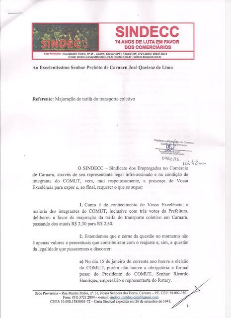 sindecc-requer-veto-no-reajuste-das-passagens-de-onibus-em-caruaru