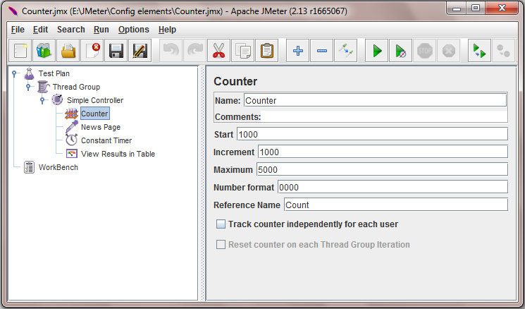 Software testing tutorials and automation: Jmeter - Counter