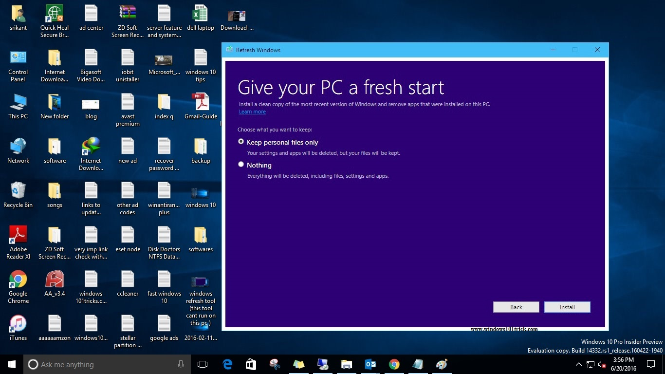 Refresh Windows