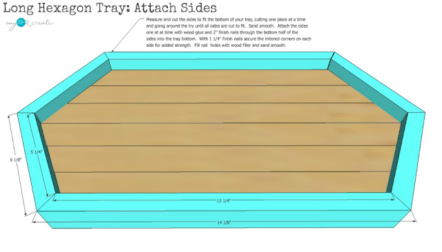 add sides to tray